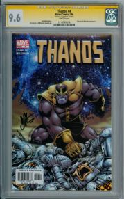 Thanos #4 CGC 9.6 Signature Series Signed Jim Starlin Marvel Avengers End Game comic book